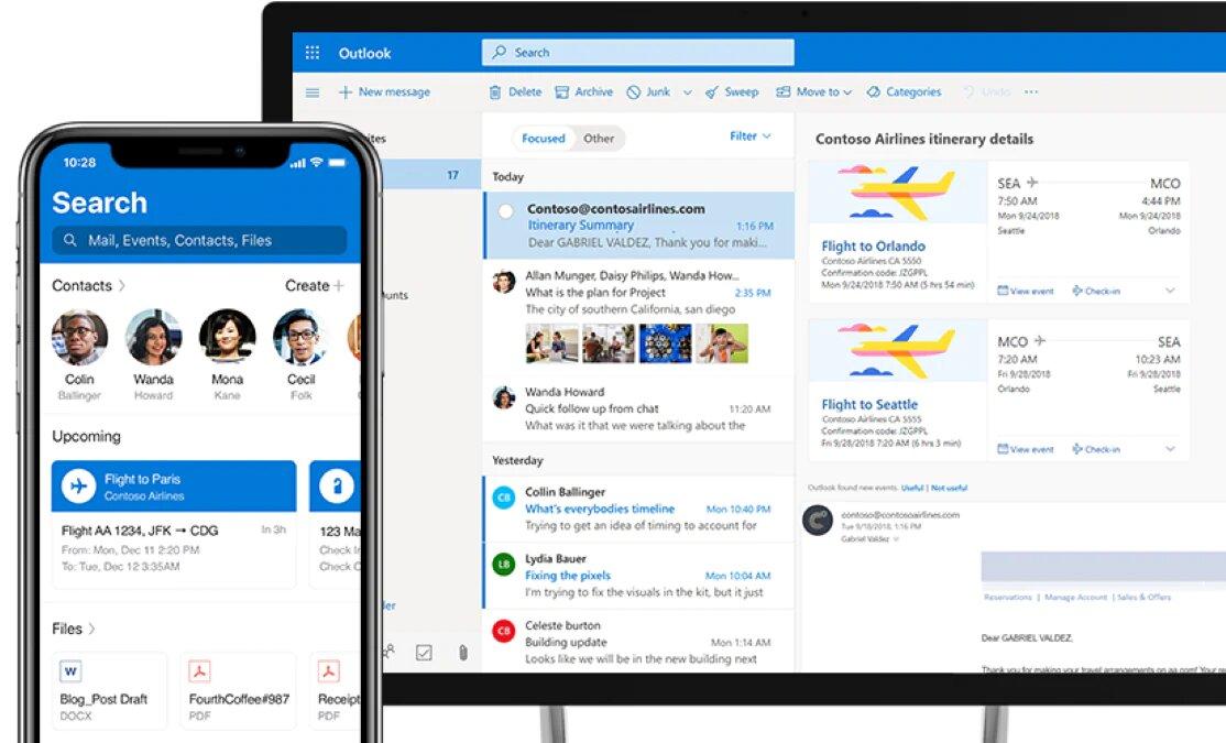 Microsoft Outlook para empresas
